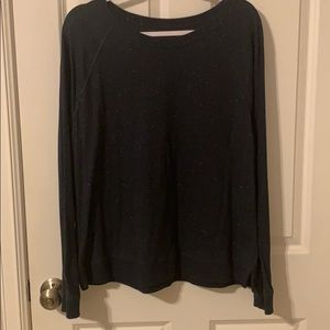 Ann Taylor The Loft Long Sleeve XL Navy Tee